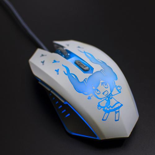 Chuột chơi game Hatsune Miku LED lập trình Macro