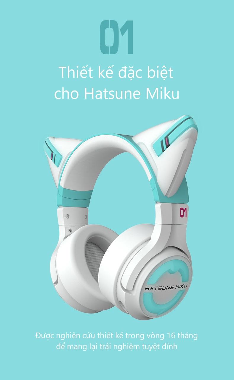 Tai nghe Bluetooth Hatsune Miku (mẫu 4)